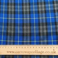 Tartan - Blue and Yellow Plaid - Felt Backed Fabric