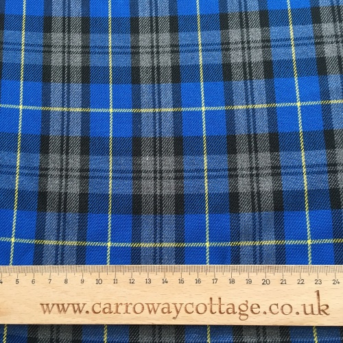 Tartan - Blue and Yellow Plaid - Felt Backed Fabric