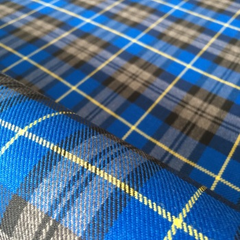 Polyviscose Tartan - Blue and Yellow Plaid