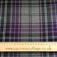 Tartan - Grey and Purple Plaid - Felt Backed Fabric