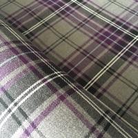 Polyviscose Tartan - Grey and Purple Plaid