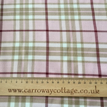 Tartan - Pink Plaid - Felt Backed Fabric