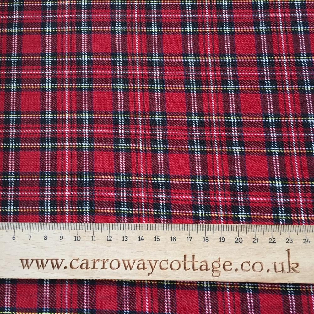 Tartan - Royal Stewart Minature - Felt Backed Fabric
