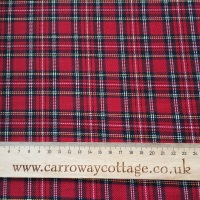 Tartan - Royal Stewart Minature - Felt Backed Fabric