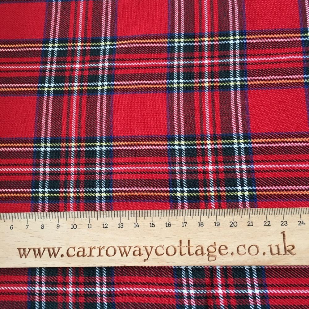 Tartan - Royal Stewart - Felt Backed Fabric
