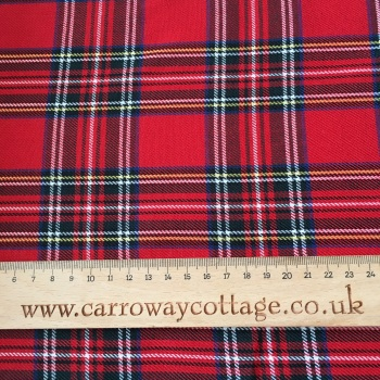 Tartan - Royal Stewart - Felt Backed Fabric