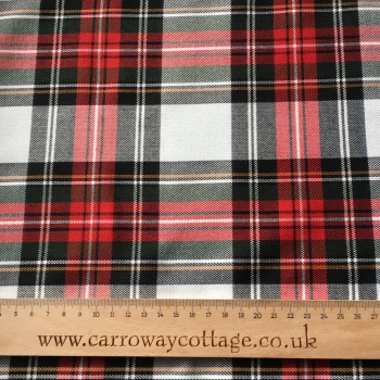 Tartan - Dress Stewart - Felt Backed Fabric