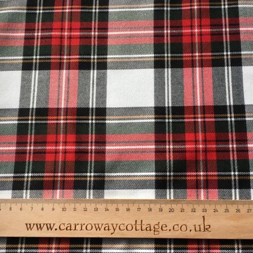 Tartan - Dress Stewart - Felt Backed Fabric