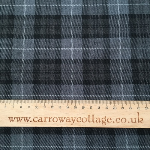 Tartan - Granite Grey Plaid - Felt Backed Fabric