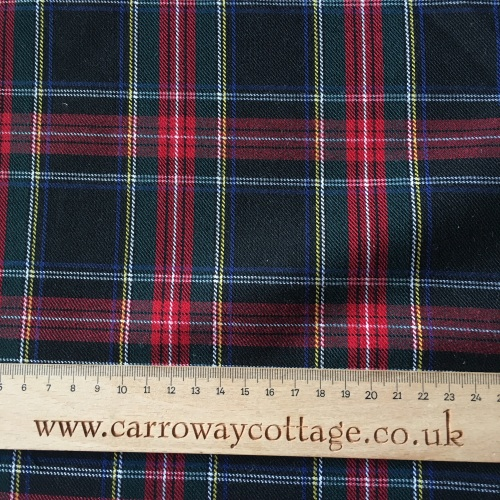 Tartan - Stewart Black - Felt Backed Fabric