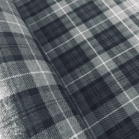 Polyviscose Tartan - Granite Grey Plaid