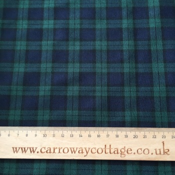 Tartan - Blackwatch Miniature - Felt Backed Fabric