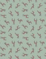 REMNANT 40CM X 110CM Lewis and Irene Small Things...Country Creatures - Deer Sage