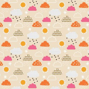 Geo Forest by Dashwood Studio - Sunshine and Clouds