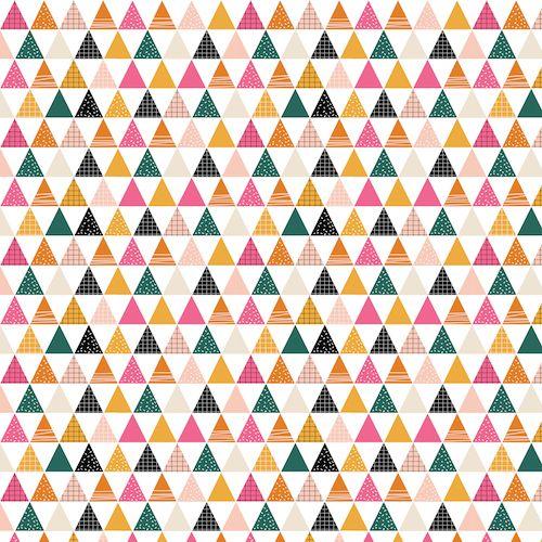 Geo Forest by Dashwood Studio - Triangles - Felt Backed Fabric
