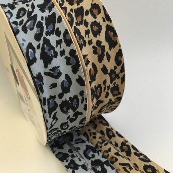 30mm Animal Print Bias Binding
