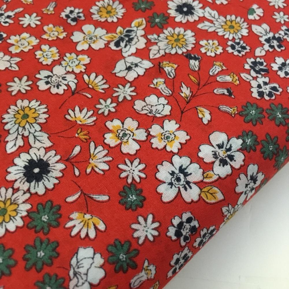 Frou Frou - Fleuri 23 Coquelicst - Felt Backed Fabric