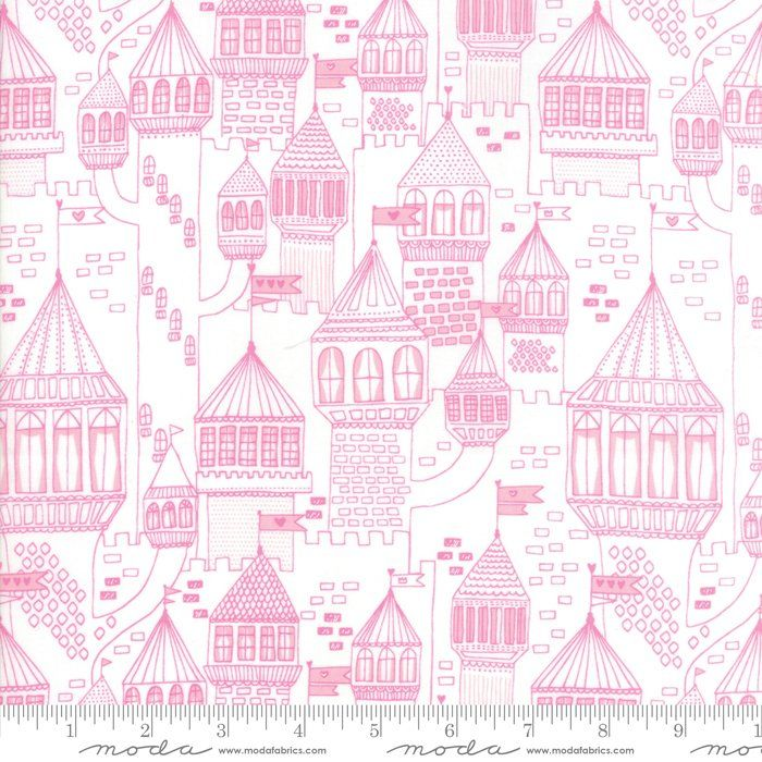 Moda Fabrics - Once Upon a Time - Castle on the Hill White Peony