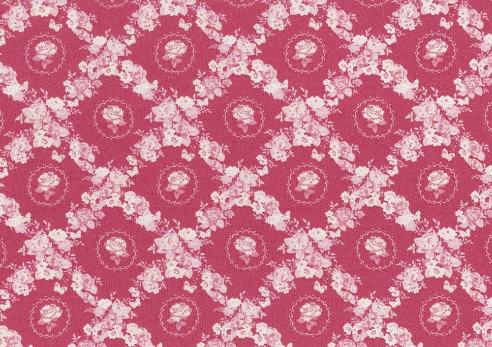 Lecien Woodland Rose - Rose Lattice