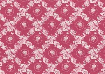 Lecien Woodland Rose - Rose Lattice  - Felt Backed Fabric