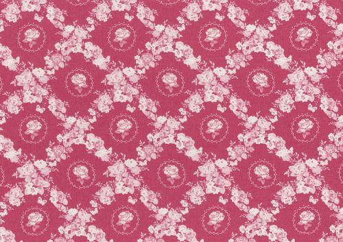 Lecien Woodland Rose - Rose Lattice  - Felt Backed Fabric