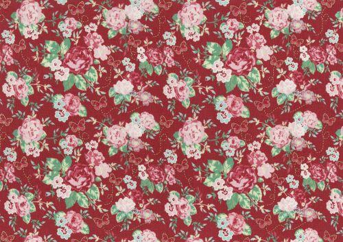 Lecien Woodland Rose - Butterfly Rose Garden (Metallic)