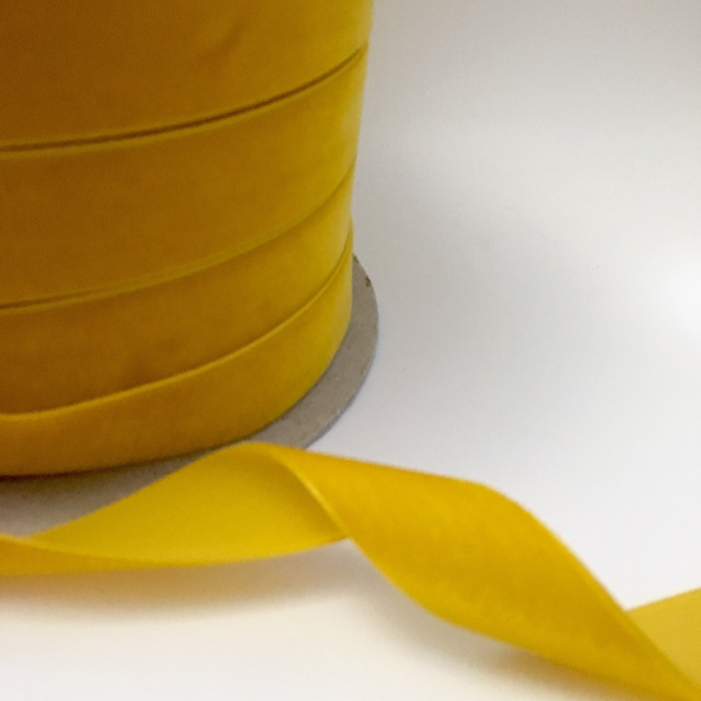 22mm Velvet Ribbon - Mustard