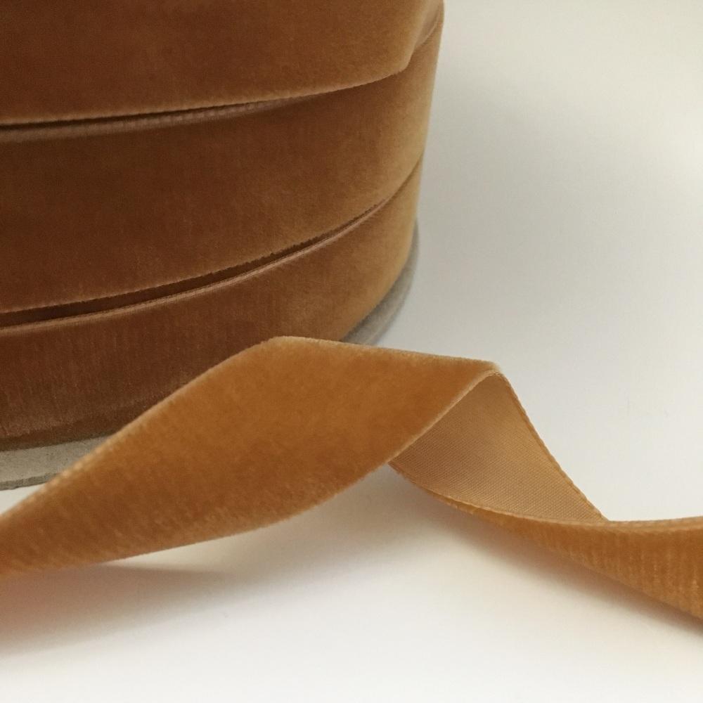 22mm Velvet Ribbon - Copper