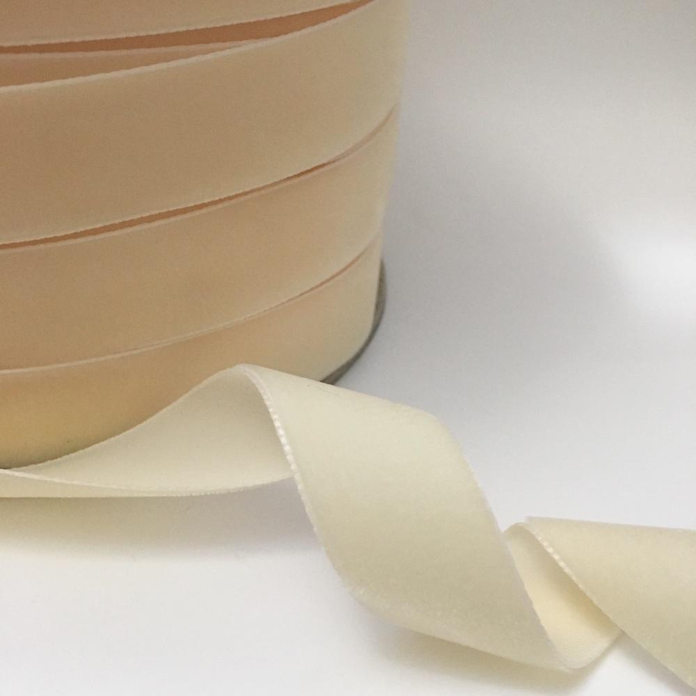 22mm Velvet Ribbon - Ivory