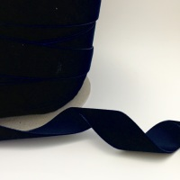 22mm Velvet Ribbon - Navy