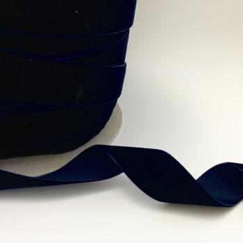 22mm Velvet Ribbon - Navy