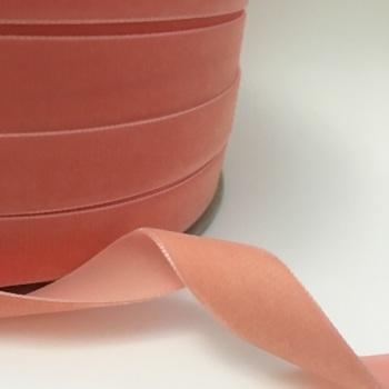 22mm Velvet Ribbon - Peach