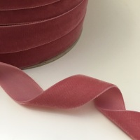 22mm Velvet Ribbon - Rose