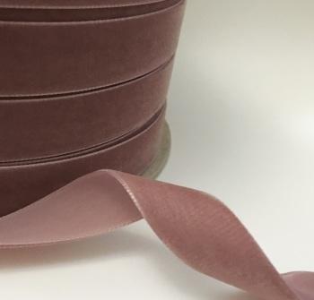 22mm Velvet Ribbon - Vintage Rose