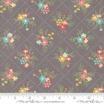 Sunnyside Up! by Moda Fabrics  - Floral Dandy Grey - Felt Backed Fabric