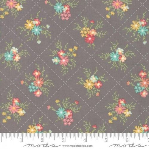 Sunnyside Up! by Moda Fabrics  - Floral Dandy Grey - Felt Backed Fabric
