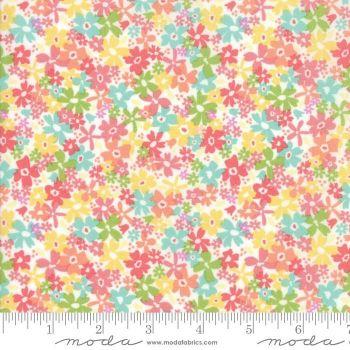 Sunnyside Up! by Moda Fabrics  - Floral Charming White - Felt Backed Fabric