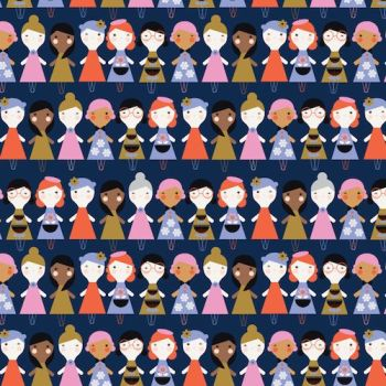 Amelie by Dashwood Studio - Girls on Navy Blue