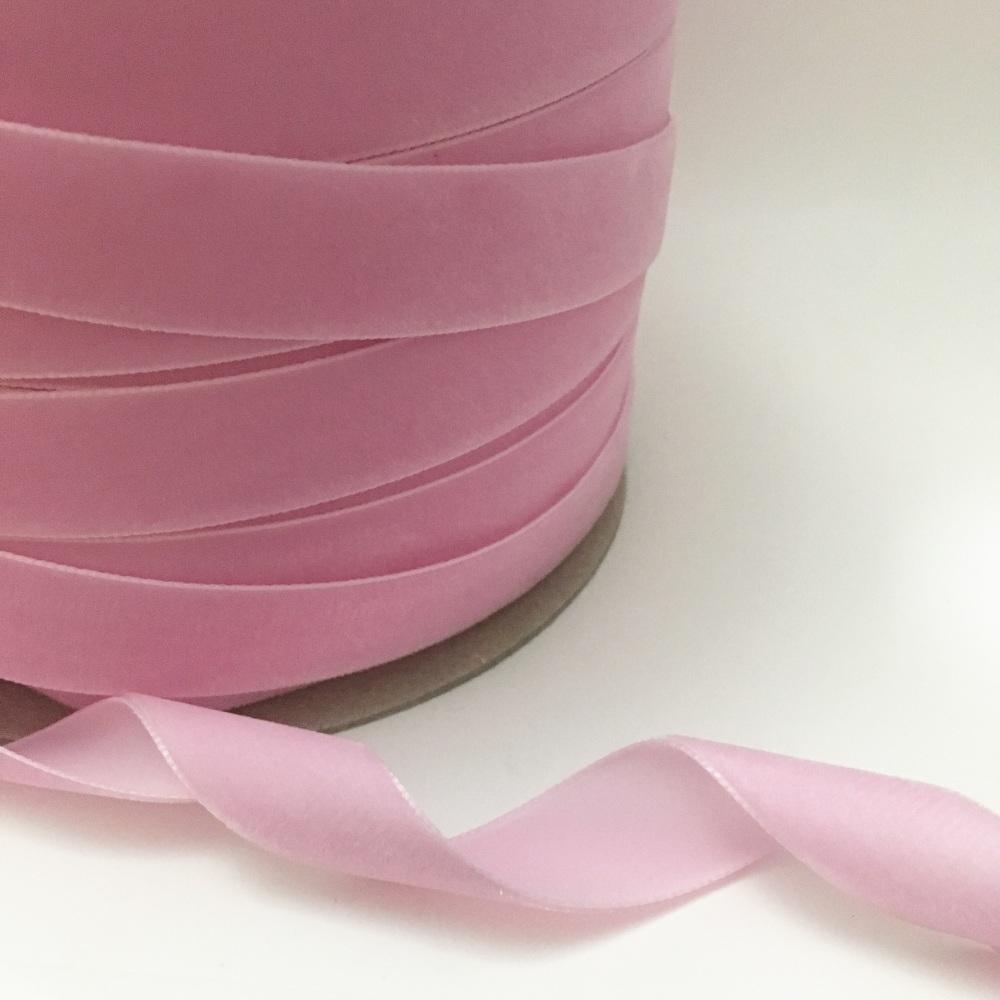 22mm Velvet Ribbon - Baby Pink