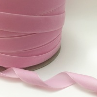 22mm Velvet Ribbon - Baby Pink
