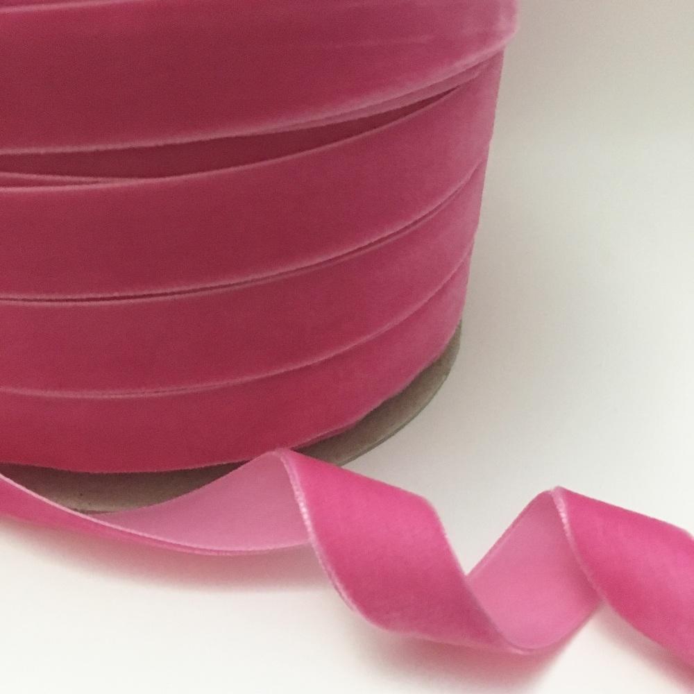 22mm Velvet Ribbon - Candy Pink