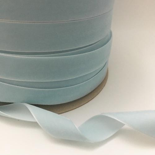 22mm Velvet Ribbon - Light Blue