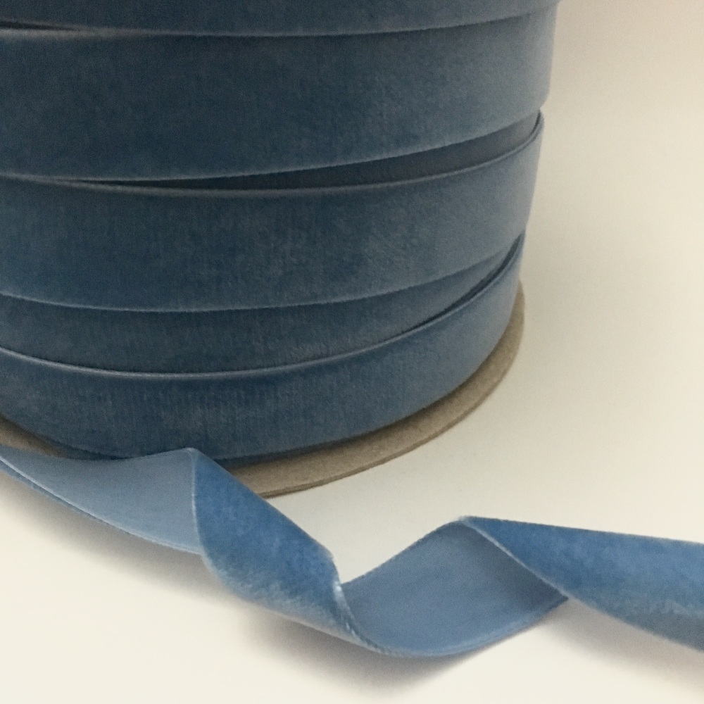 22mm Velvet Ribbon - Ocean Blue