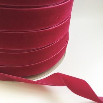 22mm Velvet Ribbon - Raspberry