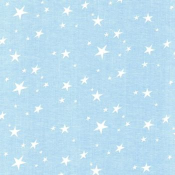 Chambray Stars - White on Pale Blue