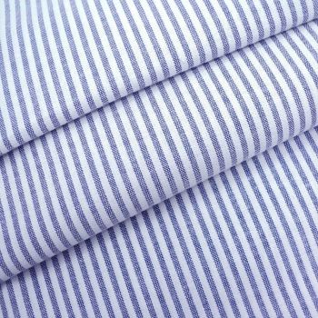 Chambray Candy 3mm Stripe - Navy