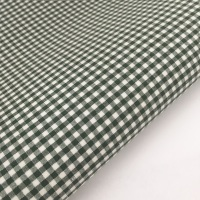 "Bottle Green 1/8"" Gingham  - Felt Backed Fabric"