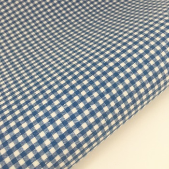 "Royal Blue 1/8"" Gingham  - Felt Backed Fabric"