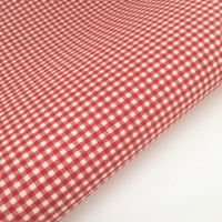 "100% Yarn Dyed Cotton 1/8"" Gingham - Red"