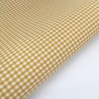 "100% Yarn Dyed Cotton 1/8"" Gingham - Mustard Gold"